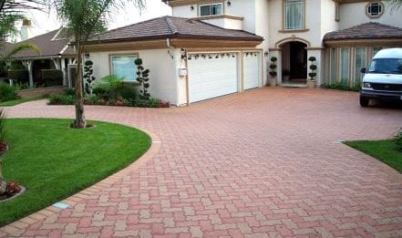 This is a picture of stamped driveway, folsom, california
