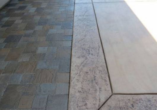 an image of a stamped concrete construction project in rio linda, ca