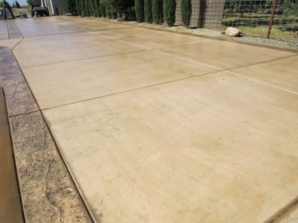 This is a picture of concrete resurfacing in Carmichael, California.