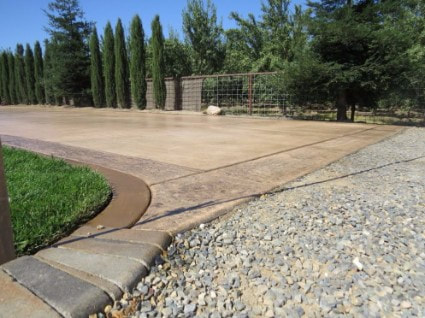 this is an image of driveway stamping contractor folsom ca